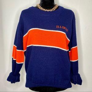VINTAGE U OF I sweater university of Illinois